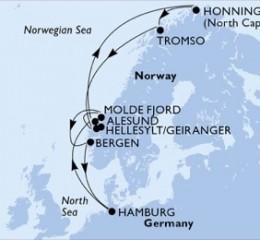 11 Noches por Alemania, Noruega a bordo del MSC Splendida