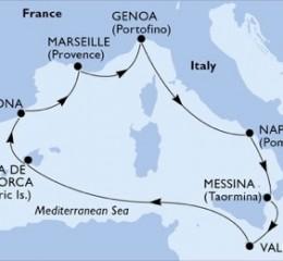 7 Noches por Italia, Malta, España, Francia a bordo del MSC Poesia