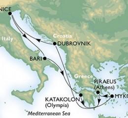 7 Noches por Italia, Grecia, Croacia a bordo del MSC Magnifica