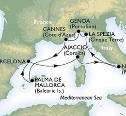 7 Noches por España, Francia, Italia a bordo del MSC Fantasia