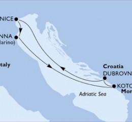 4 Noches por Italia, Montenegro, Croacia a bordo del MSC Sinfonia