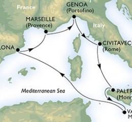 7 Noches por España, Francia, Italia, Malta a bordo del MSC Splendida