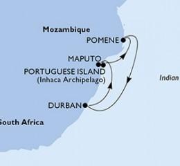 5 Noches por Sudáfrica, Mozambique a bordo del MSC Sinfonia