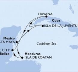7 Noches por Cuba, Belice, Honduras, México a bordo del MSC Opera