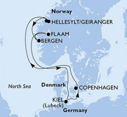 7 Noches por Alemania, Dinamarca, Noruega a bordo del MSC Preziosa