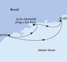 3 Noches por Santos, Ilha Grande, Buzios, Santos a bordo del MSC Preziosa