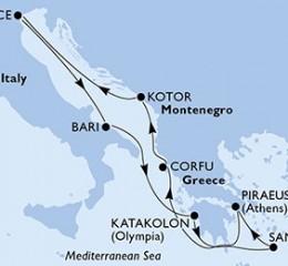 7 Noches por Italia, Grecia, Montenegro a bordo del MSC Orchestra